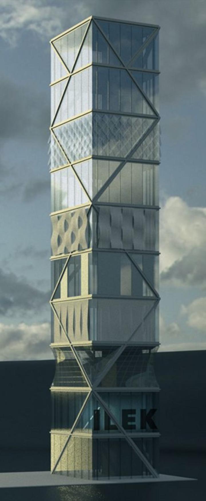Demonstrator-Turm des SFB 1244 (Visualisierung)