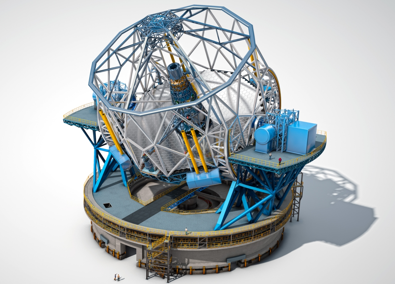 Hauptstruktur des Extremely Large Telescope